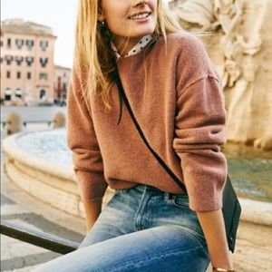 Madewell Connection Sweater in Sunset Rose